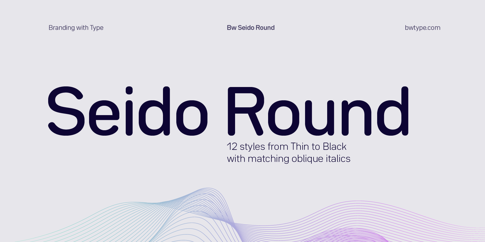 Bw Seido Round - Fonts - Branding with Type